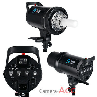 Digital LED Display 300W Flash Strobe Studio Lighting Head Bowens Mount DE300 N