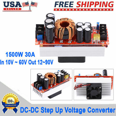 Dc-dc Boost Converter Step-up Power Supply Module 30a 1500w In 1060v Out 1290v