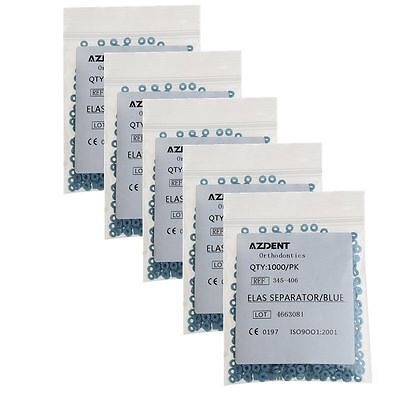 5 Box Blue Dental Separator Tie Elastic Band Force 1000pcspack Azdent