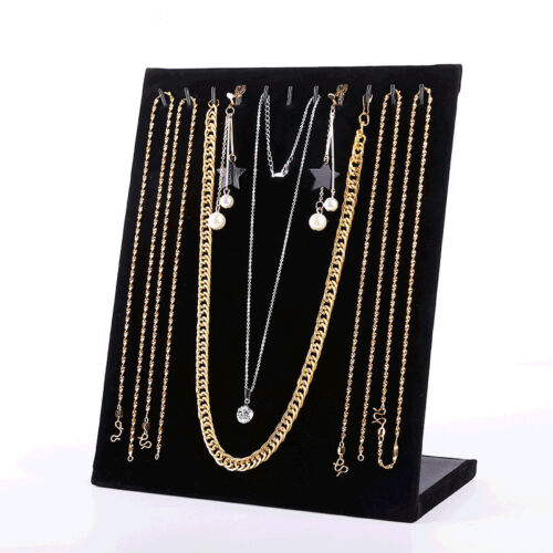 Velvet Pendant Necklace Chain Display Stand Holder Organizer Show Rack