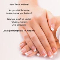 Room rental available for a Nail Technician