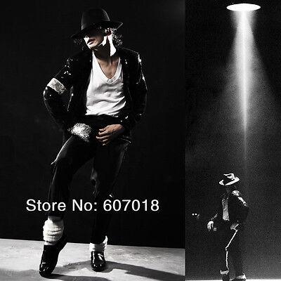 Rare MJ Michael Jackson Billie Jean Black Sequin Jacket Outfit Christmas Gift