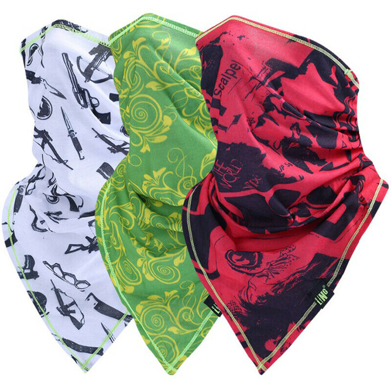 Summer Thin Face Mask Sun Shield Neck Gaiter Balaclava Neckerchief Bandana US Clothing, Shoes & Accessories