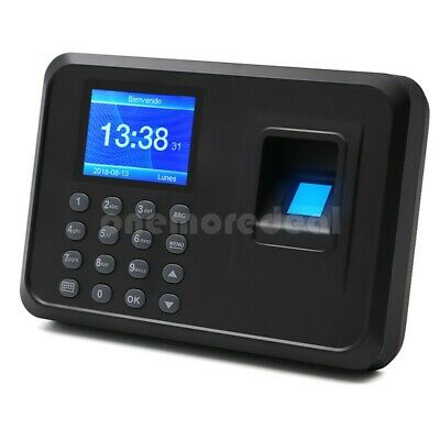 F01 Biometric Fingerprint Time Clock Employee 2.4 Screen Multi-language Dl45