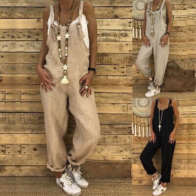 Damen Latzhose Overall Hosen Herbst Damen Übergröße Strampelanzug Clubwear