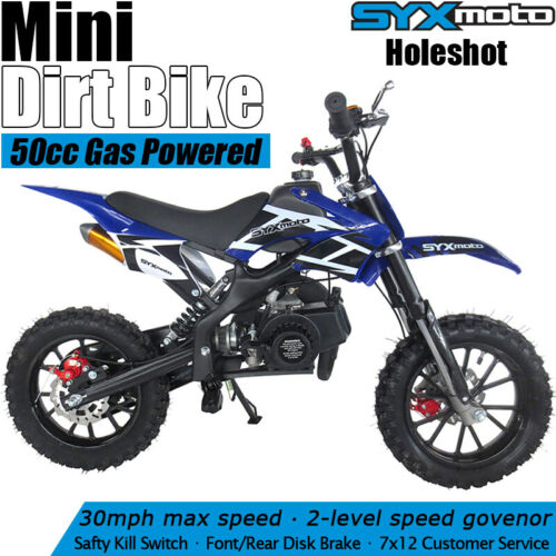 SYXMOTO Holeshot Mini Dirt Bike Gas Power 2-Stroke 49cc Moto