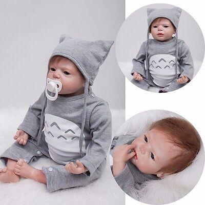 22'' Reborn Toddler Dolls Handmade Lifelike Baby Silicone Vinyl Boy Girl Doll AA for sale  China