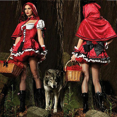 Sexy Little Red Riding Hood (Sexy Little Red Riding Hood Adult Womens Fancy Costume Cosplay Dress Carnival)