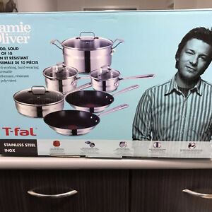 Jamie Oliver by T-Fal 10-piece Cookware Set Pot and Pans Regina Regina Area image 2