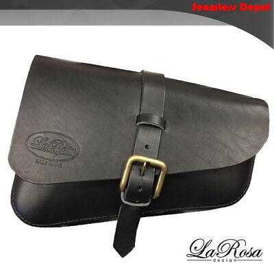 La Rosa Triumph Bonneville Black Leather Left Solo Saddle Bag (Fits 2016-2018) for sale  Alameda