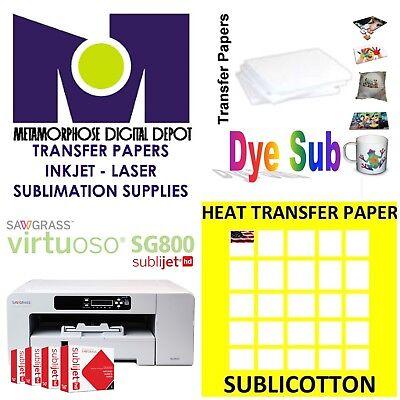Sawgrass Virtuoso Sg800 Printercmyk Inks 100sh Each Sublicotton Sublipaper