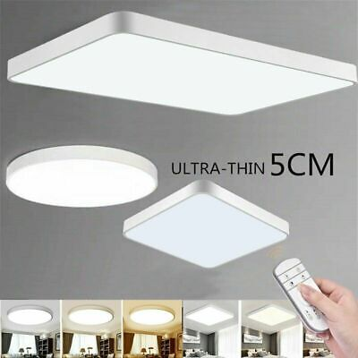 LED Dimmable Ceiling Light Ultra Thin Square Panel Kitchen Lamp Home Fixture US Square Light Fixture