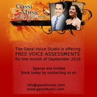 Gassi Voice Studio - FREE VOICE ASSESSMENTS!