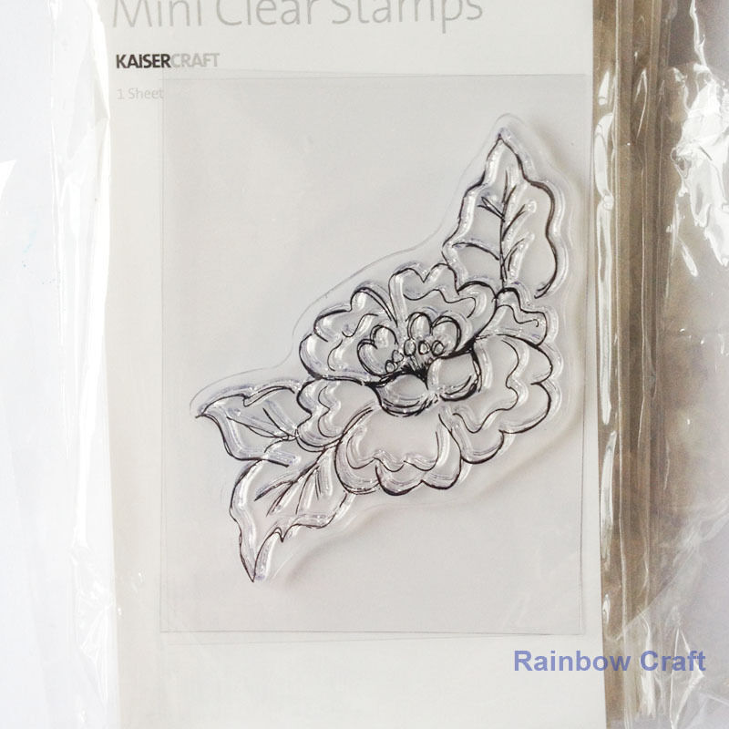 Kaisercraft mini stamps - 26 wording / patterns Scrapbooking card making - Corner Flower