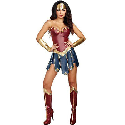 Wonder Woman Diana Cosplay Costume Suit Adult Clothing Sexy Fancy Dress  (Sexy Wonder Woman Costume)