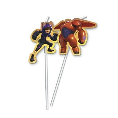Big Hero 6 BAYMAX r.. Robowabohu Strohhalm Trinkhalm Kindergeburtstag ()
