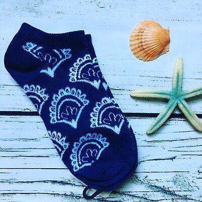 Paisley Bandanna Socks Women Novelty Gift Geek Chic Blue & White
