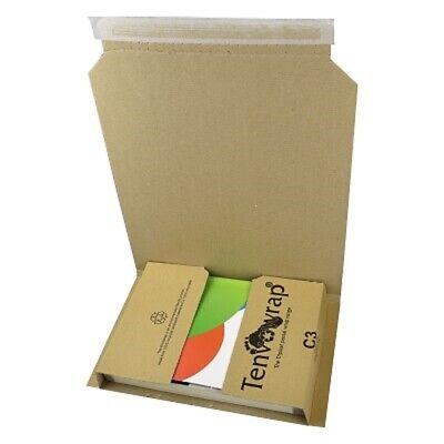 10 x BRAND NEW C3 BOOK WRAP CARDBOARD POSTAL BOXES 311x240x50mm / HIGH QUALITY