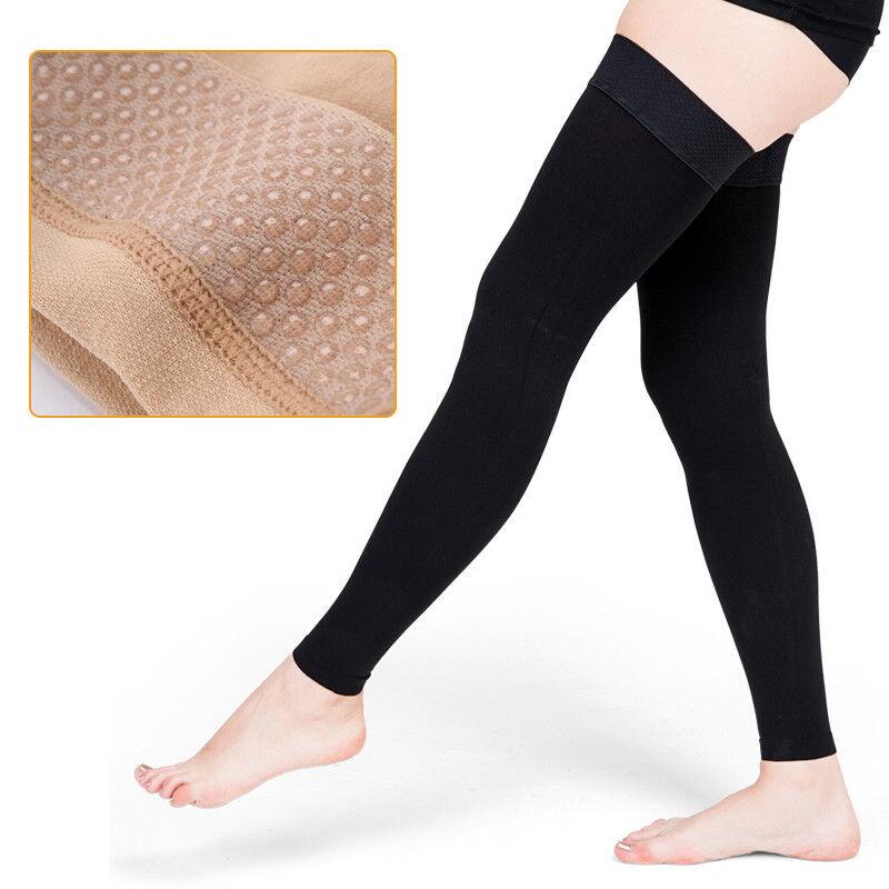 20-30 mmHg Leg Compression Sleeve Socks Thigh High Varicose