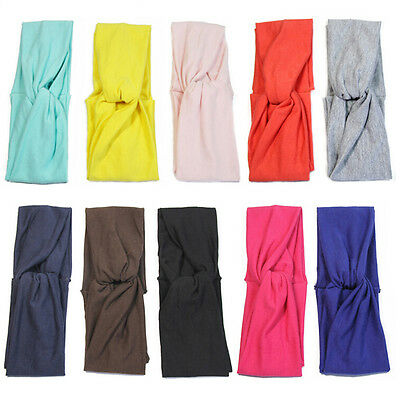 Women Cotton Turban Twist Knot Head Wrap Headband Twisted Knotted Hair Band  FO