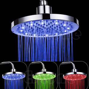 "TETE DE DOUCHE PLUIE LED  8"" SHOWER HEAD RAINFALL DEL 8"""