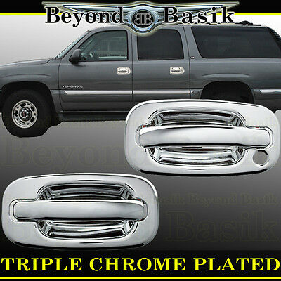 - 1999-2006 GMC SIERRA Triple Chrome Door Handle Covers W/o Passenger Keyhole 2dr