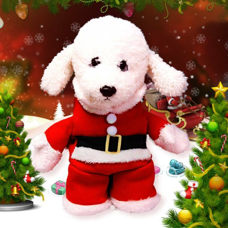 Christmas Pet Small Puppy Dog Cat Santa Claus Cape Coat Costume Outfit Cosplay 6