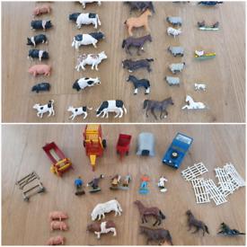 40 britains farm animals & figures vintage bundle jeep horse box pi