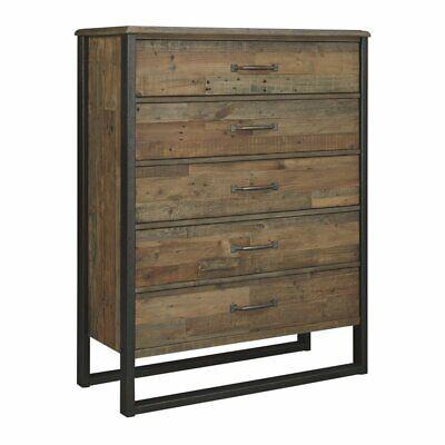 Ashley Furniture Design Sommerford Five Drawer Chest in Brown Brown Five Drawer Chest