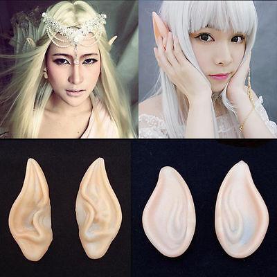 Fairy Pixie Elf Ears Cosplay Prosthetic Ear - One Pair w/Random Design and Color (Elf Design)