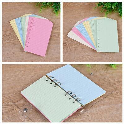 50 Sheets A5a6 Planner Organiser Insert Refill Ruled Blank Colour Paper