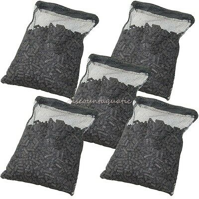 5 lbs Activated Carbon in 5 Media Bags for aquarium fish pond canister -