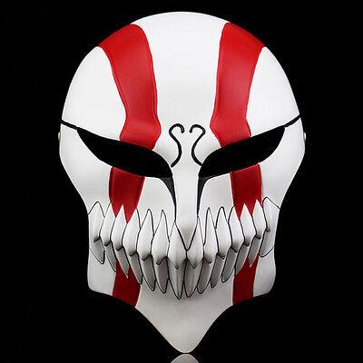 Bleach Ichigo Kurosaki Mask Bankai Hollow Cosplay Full Face Updated Masks Red