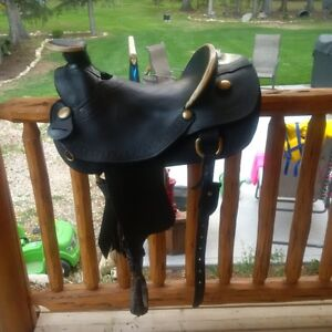 Beautiful Custom Black Saddle
