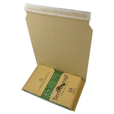 5 x BRAND NEW C2 BOOK WRAP MAILER POSTAL BOXES 251x163x70mm/ HIGH QUALITY