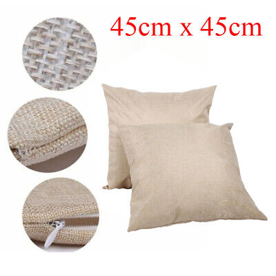 20pcs Linen Blank Sublimation Pillowcases 18x18 For Heat Press Printing Cover
