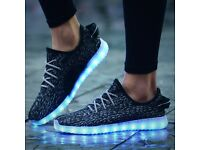 LED yeezy light up re chargeable shoes NEW