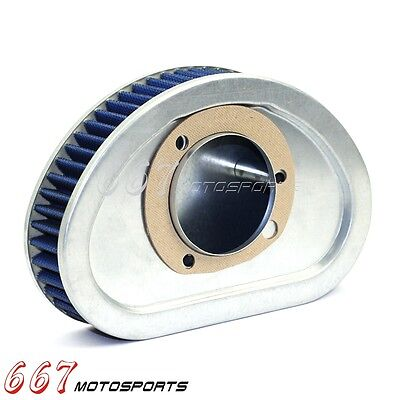 Motorcycle Air Filter Cleaner Kit For 2008-2010 Harley FXD Dyna Super Glide Blue