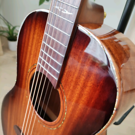 All solid wood Alvarez MPA66ESHB Parlour Electro Acoustic guitar