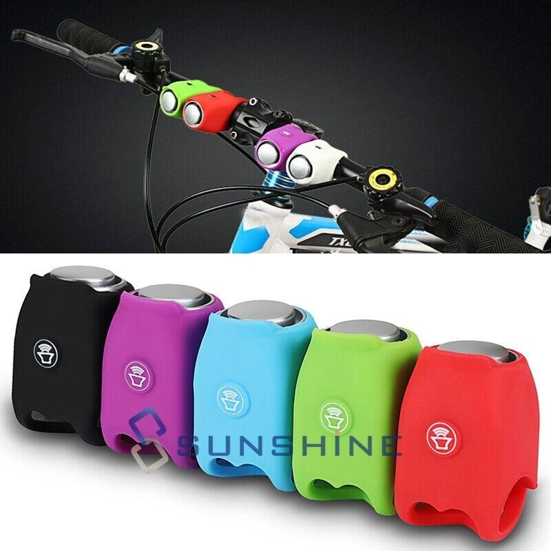 Silicone Cycling MTB Bicycle Electric Horn Rainproof Handlebar Bell Black 120db