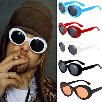 Retro Clout Goggles Unisex Sunglasses Rapper Oval Shades Grunge (Retro Rapper)