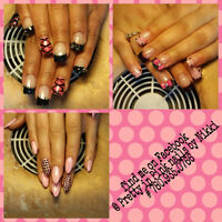 NEW SET OR FILL OF FRENCH WHITE GEL NAILS $30 COLORED TIPS $35