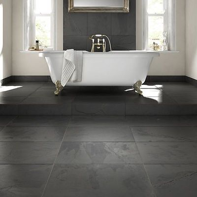 Brazilian Black Slate Wall & Floor Tiles 60 x 40cm