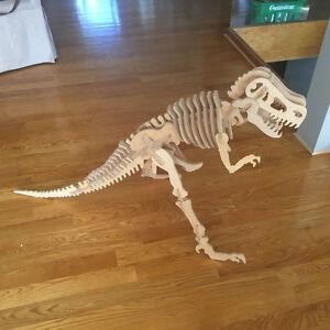 """Giant T-rex Dinosaur Wooden Bones Skeleton Kit, 30"""" Windsor Region Ontario image 1"""