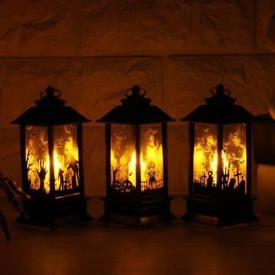 Halloween Vintage Pumpkin Castle Light Lamp Party Hanging Decor LED Lantern US K - Halloween Hanging Lanterns
