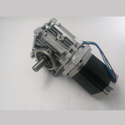 Ratio 51801 Worm Reducer Gearbox Nema23 Stepper Motor L76mm 1.8n.m Cnc Router