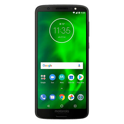 Unlocked Motorola Moto G6 XT1925 32GB Black GSM CDMA Smartphone