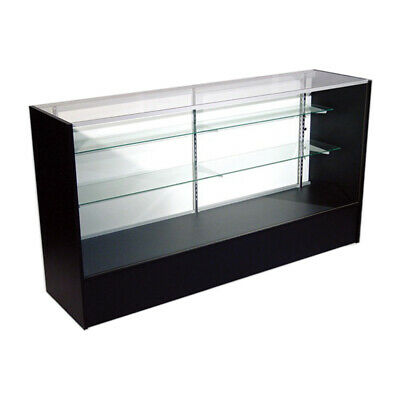 Economy Black Glass Display Case Showcase 72 L - New York Pickup Only
