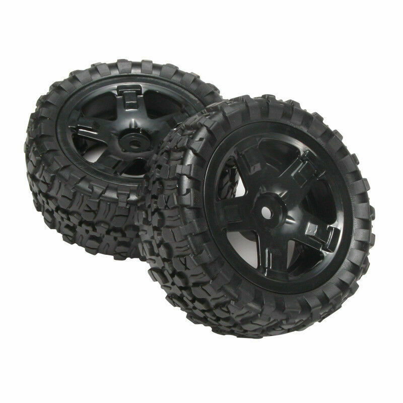 Car Parts - REMO P6971 Tires Assembly RC Car Parts for REMO 1/16 Scale RC Truck Buggy Black