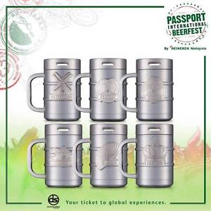 Stainless Steel Collectible Mug Heineken (Germany) Rozelle Leichhardt Area Preview